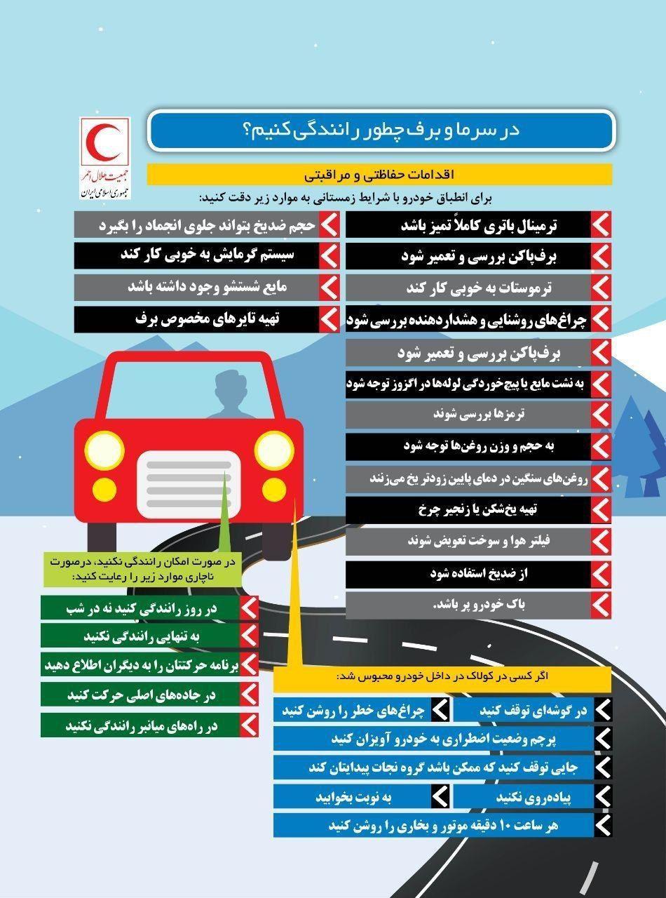 در سرما و برف چطور رانندگی کنیم؟