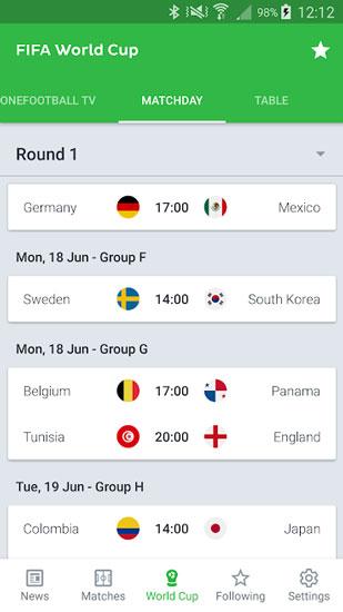 دانلود Onefootball v11.19.0.448 - نرم افزار نمایش نتایج فوتبال