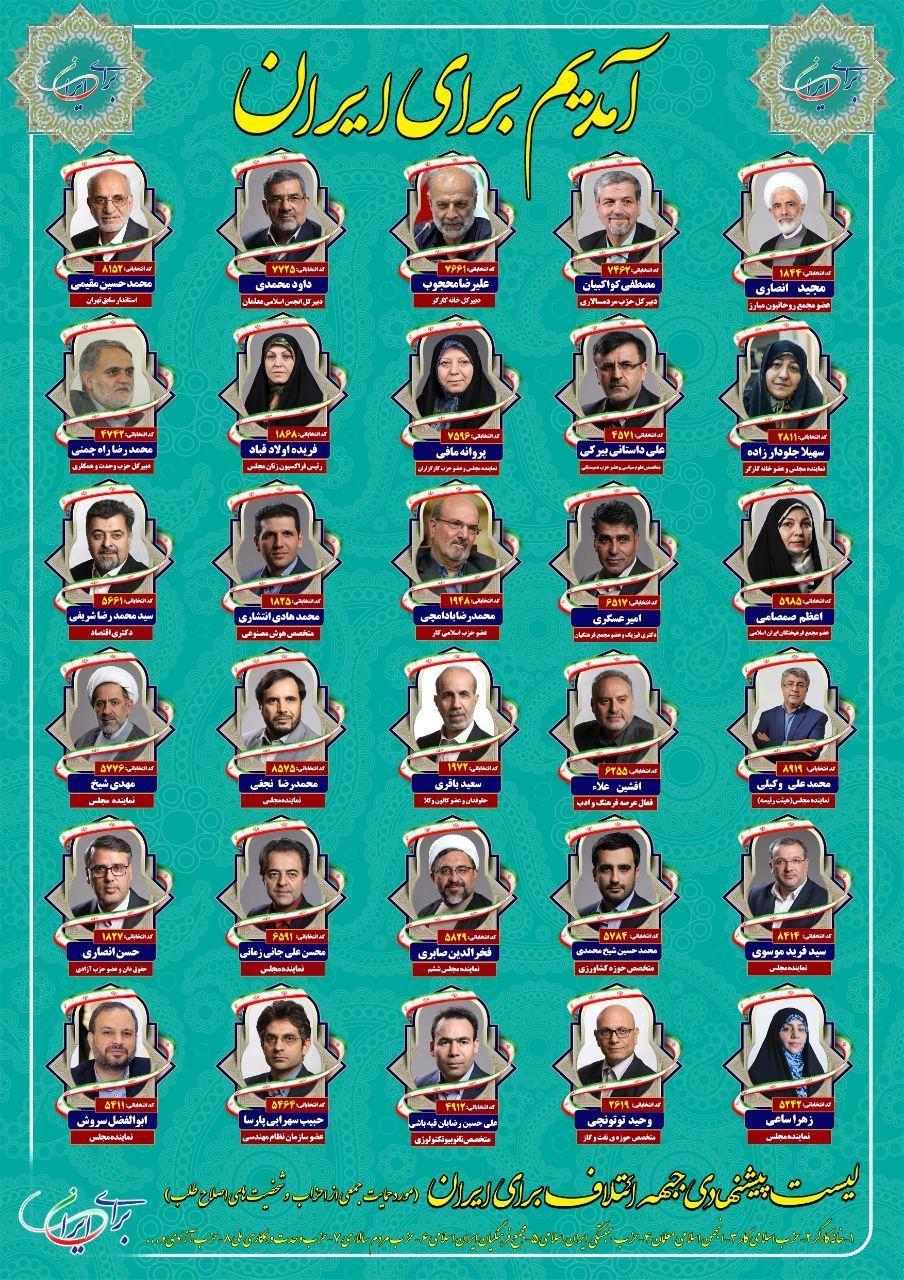 اسامی اعضای ائتلاف برای ایران + سوابق