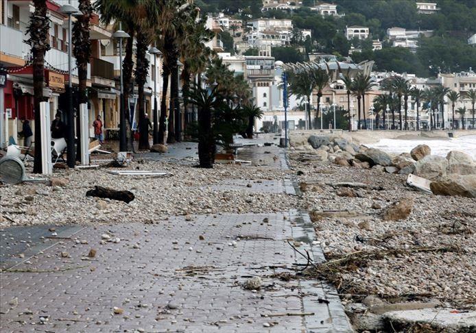 توفان گلوریا در اسپانیا