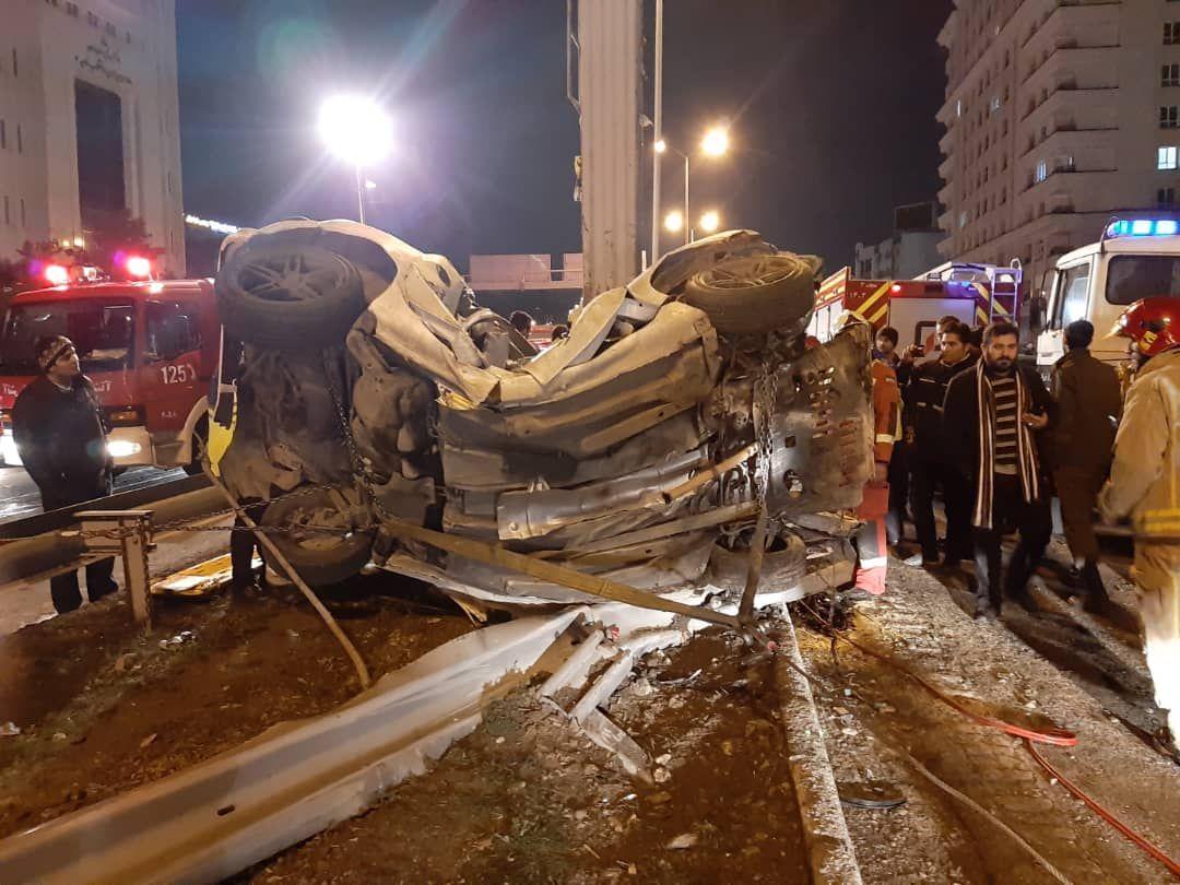 حادثه مرگبار در مسیر غرب به شرق بزرگراه نیایش