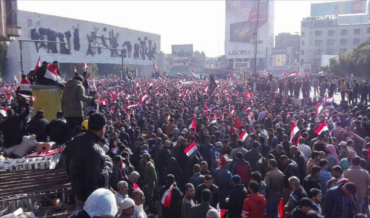 تظاهرات میلیونی مردم عراق علیه اشغالگری آمریکا+ فیلم و تصاویر