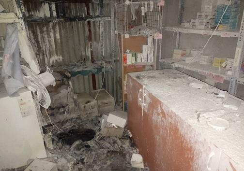 آتشسوزی در انبار بیمارستان شهید رجایی قزوین