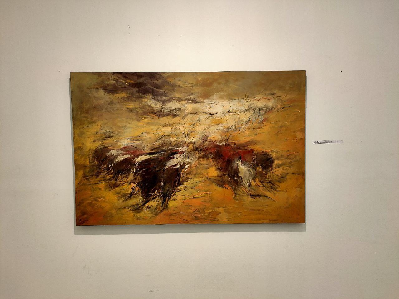 چهارمین نمایشگاه هنرهای تجسمی «ورسوس» شروع به کار کرد/ فروش آثار نسل جوان