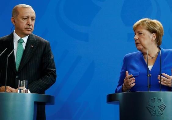 اردوغان و مرکل