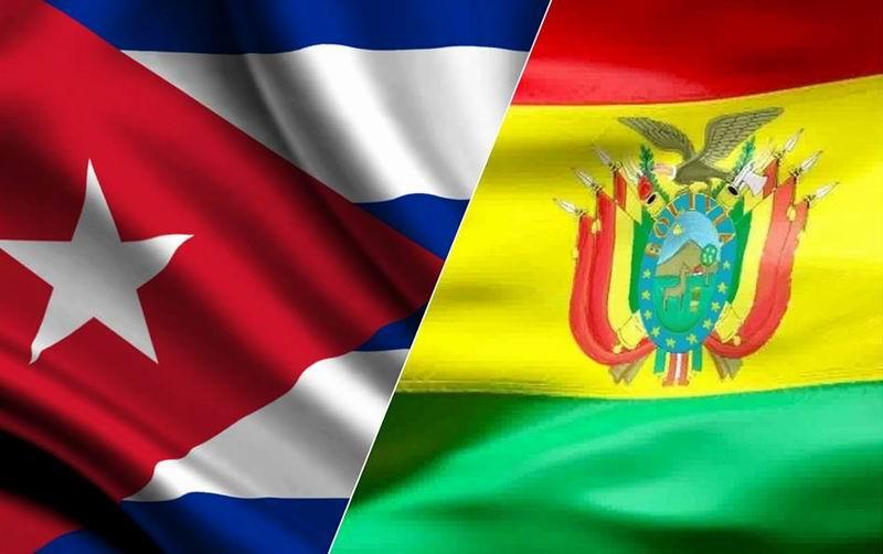 پرچم بولیوی و کوبا