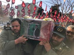 تشییع پیکر مطهر جانباز شهید برات الله زیرک بر دستان مردم مشهد