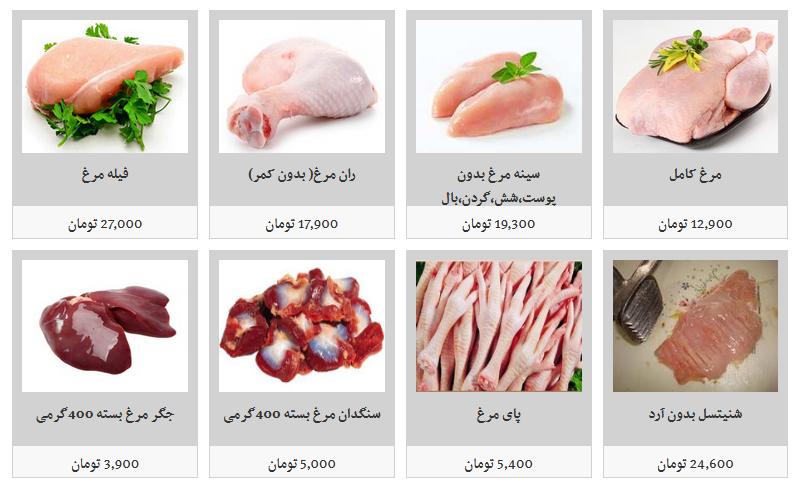 گوشت مرغ قطعه بندی و بسته بندی چند قیمت است؟