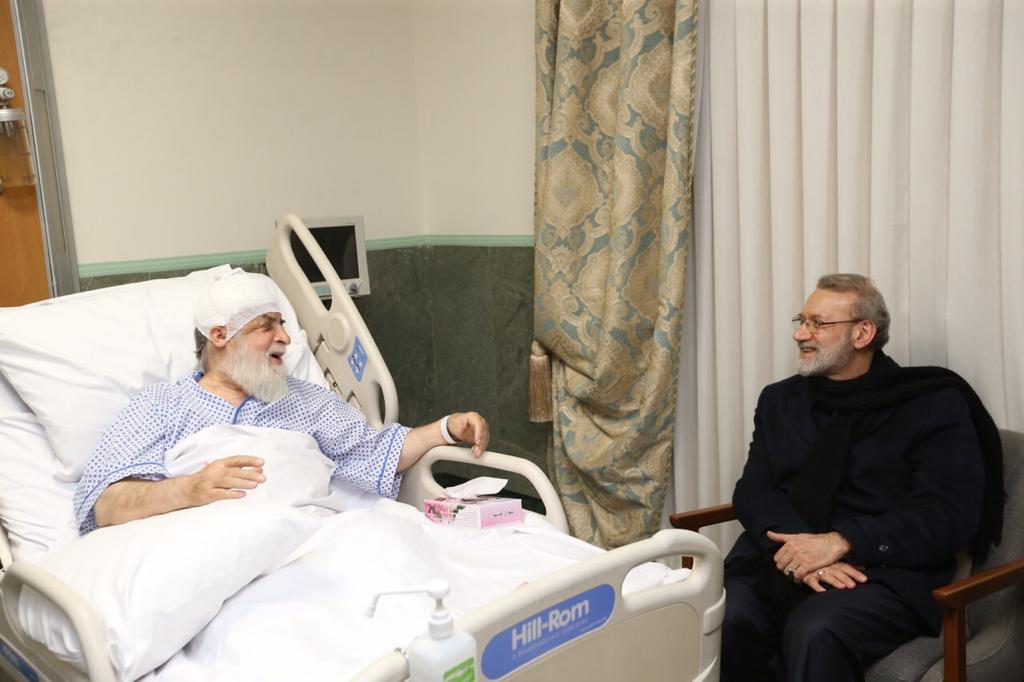 لاریجانی از حجتالاسلام شهیدی عیادت کرد