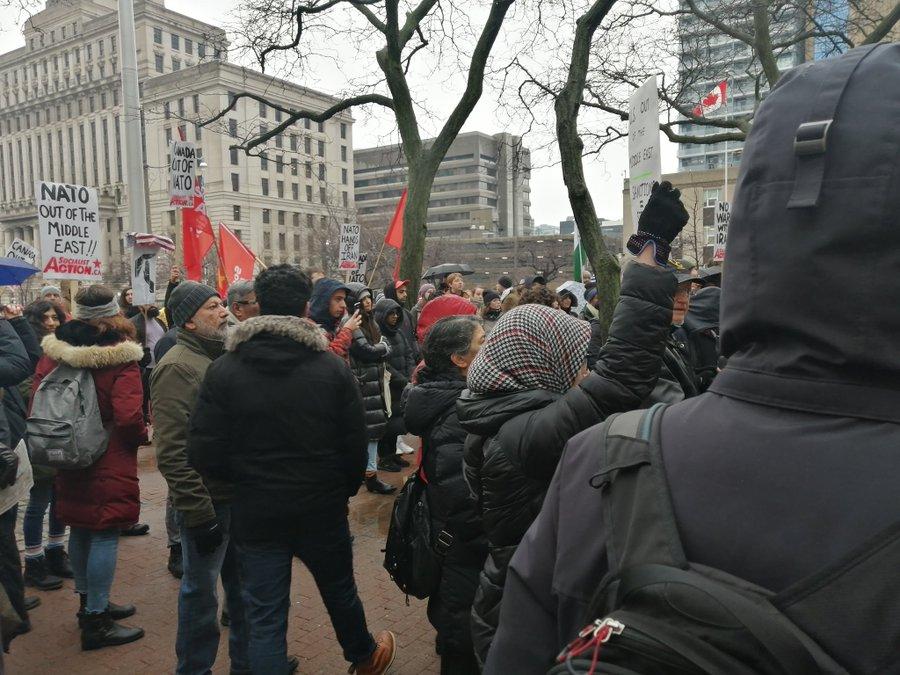 معترضان کانادایی خواستار پایان سیاستهای خصمانه آمریکا در مقابل ایران شدند