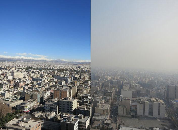 مشهد را دریابید/ امسال ۲۸ روزدر هوای آلوده نفس کشیدیم