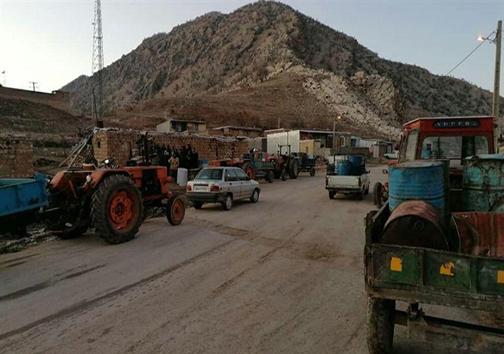 روستاییان پلدختر در بند سرما / کمبود سوخت در برف ۲۰ سانتیمتری