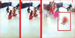 لحظه مرگ دختر دانش آموز در کلاس ورزش!