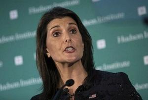 هیلی: اولویت نخست معامله قرن، امنیت اسرائیل است