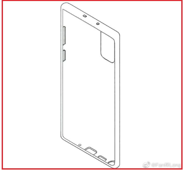 تصویر لو رفته از طراحی کلی گوشی Galaxy Note 20