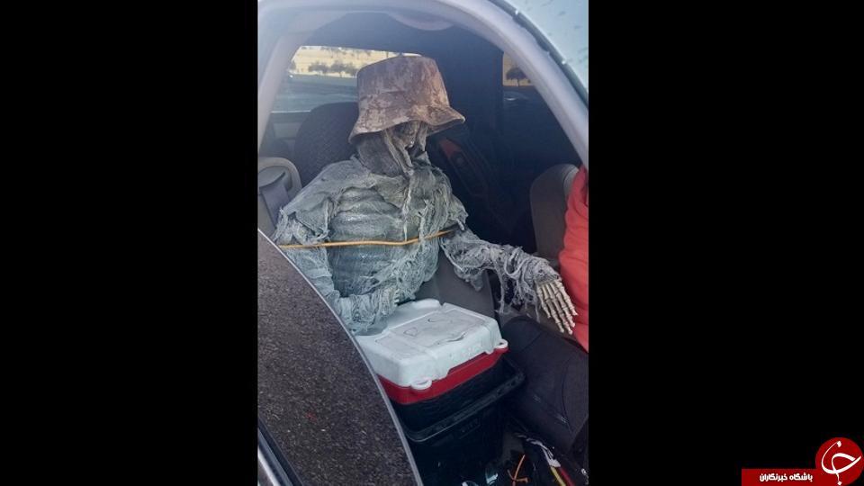 مسافر عجیبی که راننده در خیابان حمل می کرد!///
