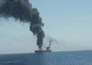 آتش سوزی در نفتکشی در نزدیکی سواحل شارجه