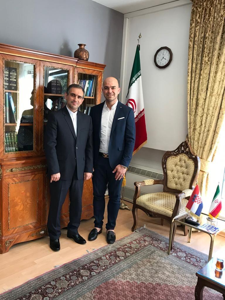 دیدار یوسف کرمی با سفیر ایران در کرواسی