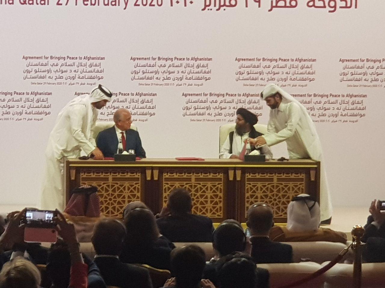 توافقنامه صلح آمریکا و طالبان امضا شد