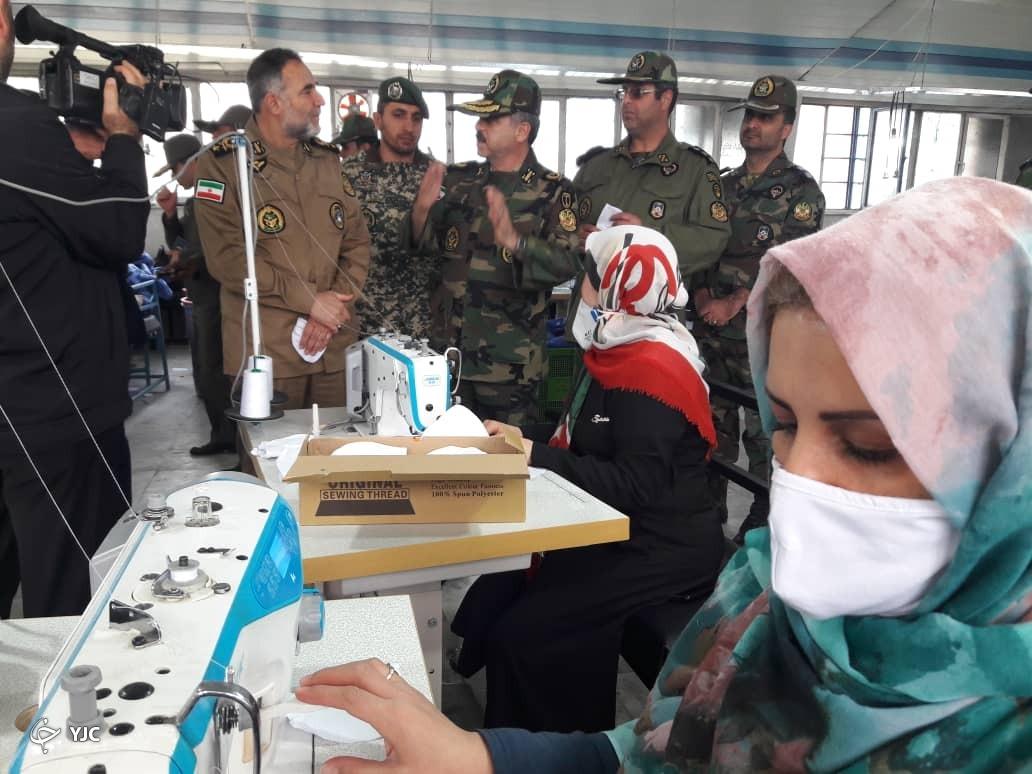 تبدیل خطوط تولید لباس های نظامی به خطوط تولید ماسک