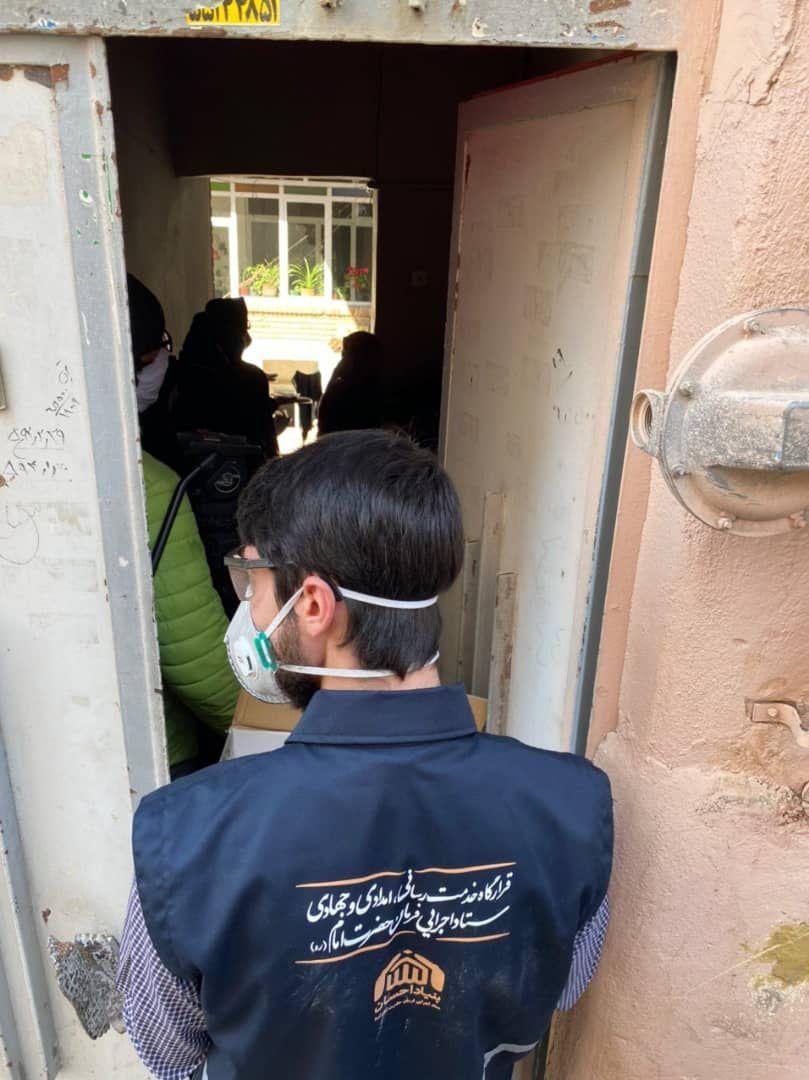 توزیع ۲۵ هزار بسته بهداشتی ضدکرونایی در محله محروم هرندی