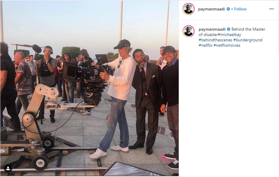 تصویری از پشت صحنه جدیدترین فیلم هالیوودی پیمان معادی