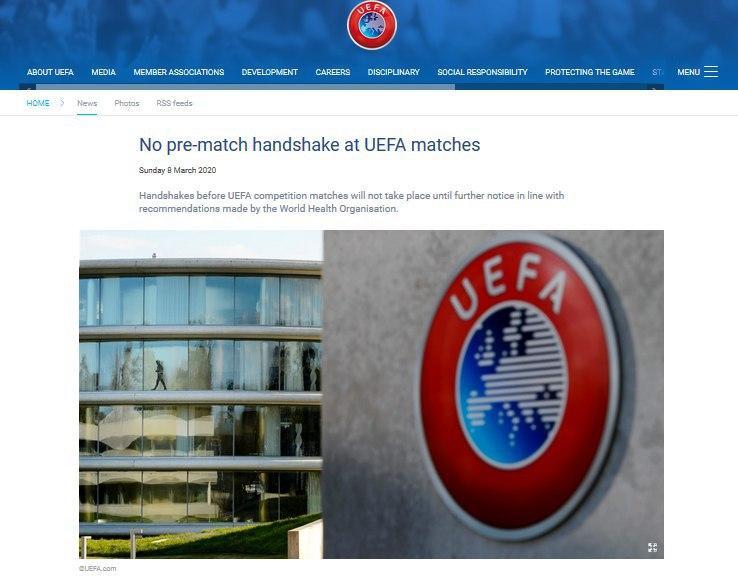 فوتبال اروپا تحت تاثیر ویروس کرونا