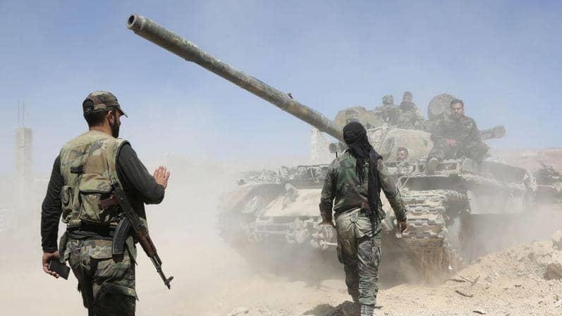 نیروهای ارتش سوریه در نیرب