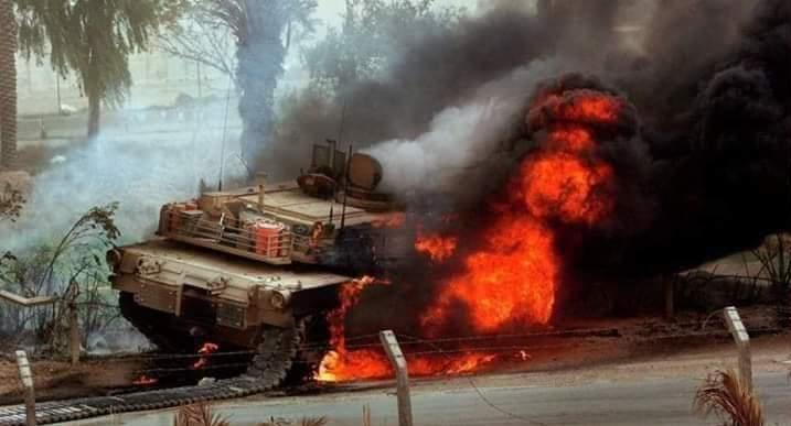 تانک منهدم شده ارتش ترکیه در نیرب سوریه