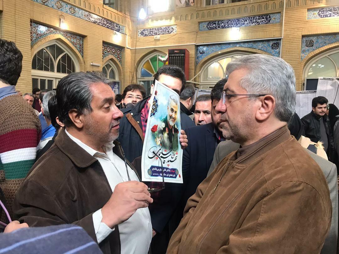 حضور وزیر نیرو در پای صندوق رای