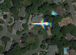 مکانهای مرموز کشف شده در گوگل ارث / از فرودگاه فرازمینیها تا قلمرو مرد هدفون به گوش در بیابان + تصاویر