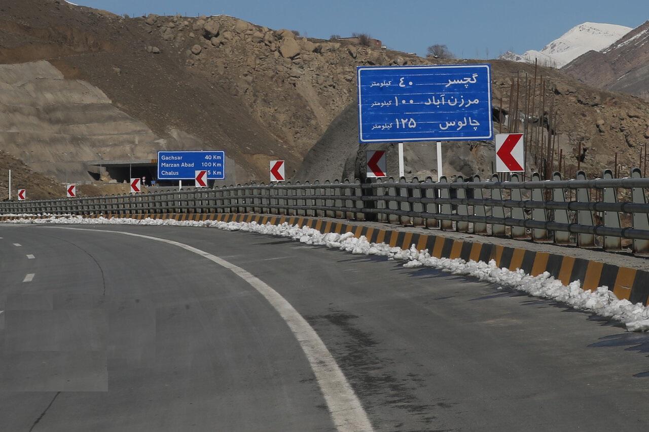 منطقه یک آزادراه تهران-شمال «ششم اسفند» افتتاح رسمی می شود