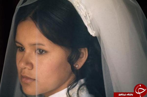 یک فریم از پرتره عروس هندی در عکس روز نشنال جئوگرافیک