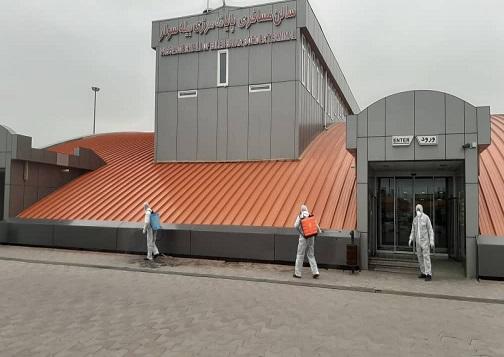 تداوم ضدعفونی پایانههای مرزی در اردبیل/ بخش تجاری پایانه مرزی فعال است