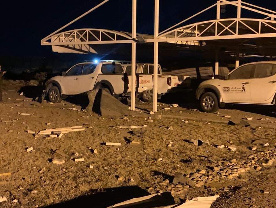 تصاویر حمله هوایی ارتش تروریست آمریکا به فرودگاه کربلا 06