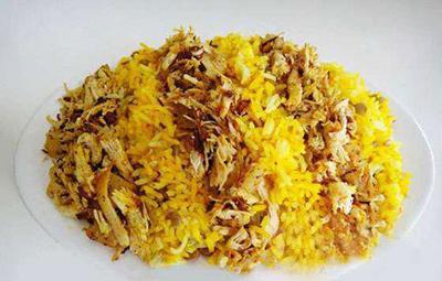 طرز تهیه عدس پلو عربی با مرغ