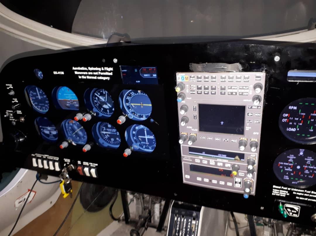 طراحی و ساخت پنل سخت افزاری شبیه ساز پرواز در اراک