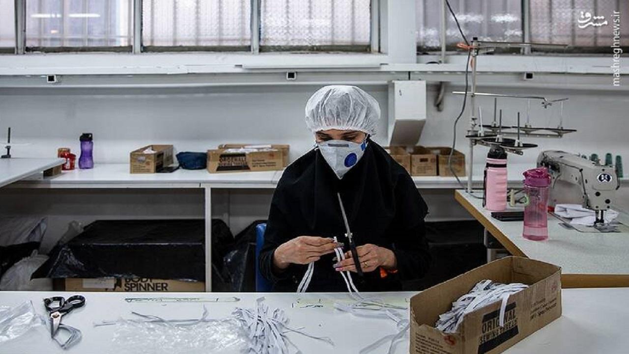 تبدیل کارگاه پوشاک به تولیدی لباس کادر درمانی و ماسک