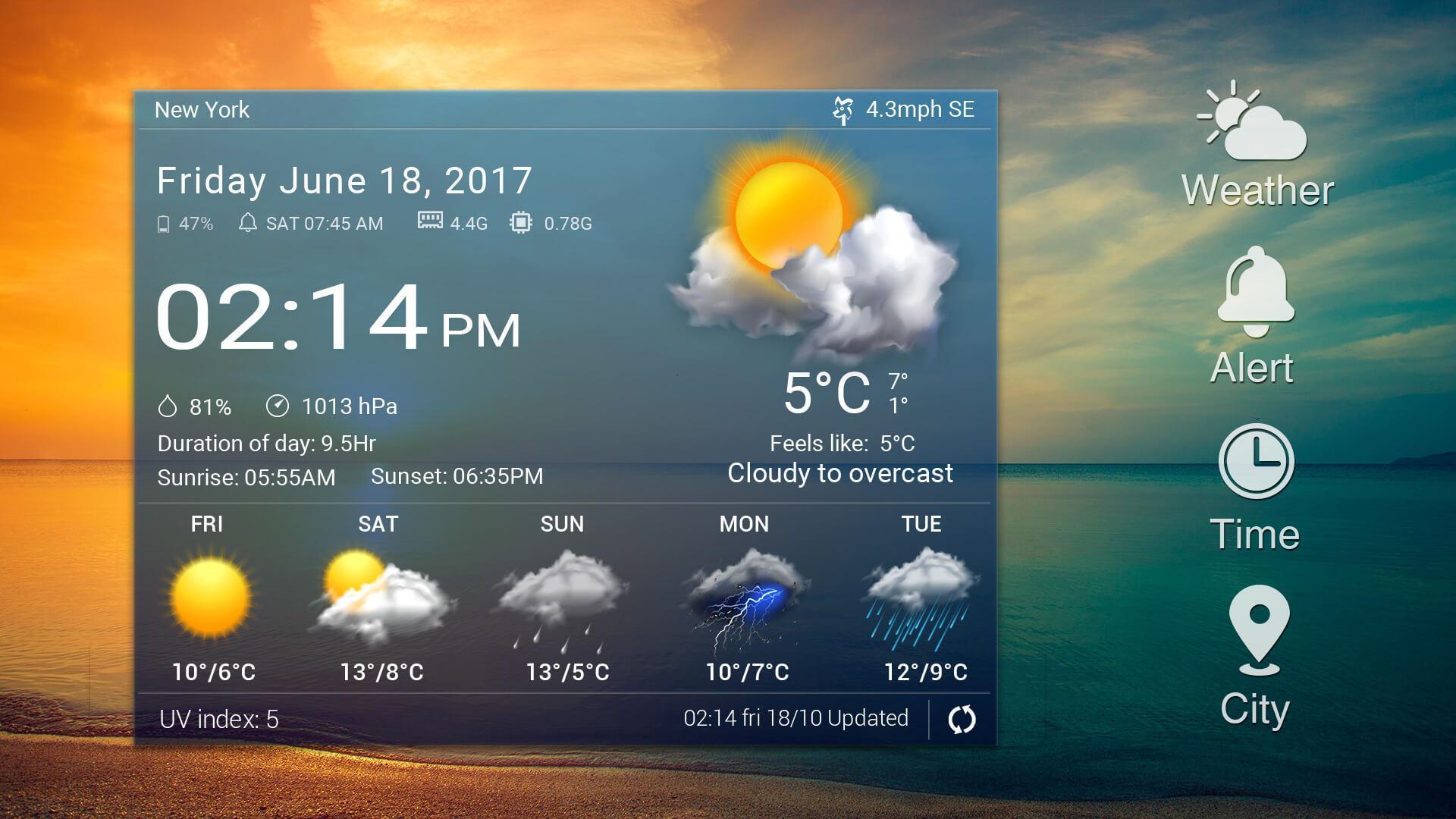 دانلود Digital clock & world weather Premium v5.72.0.2 ویجت آب و هوا و ساعت دیجیتالی