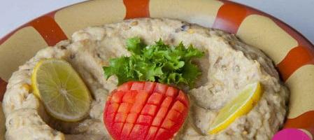 متبل بادمجان، غذای خوشمزهی لبنانی///دپوی