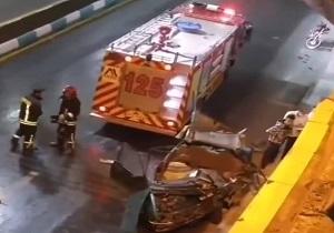 یک فوتی و سه مصدوم در تصادف دو خودرو در یزد