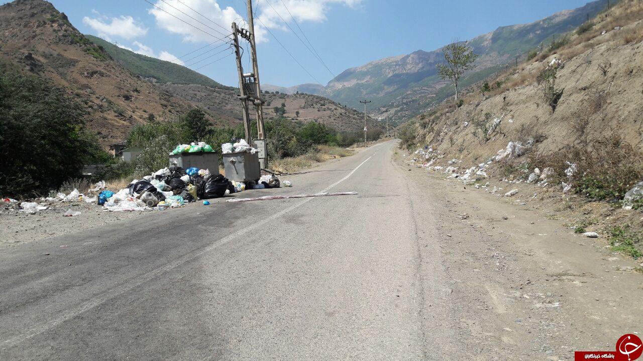 وضع نامناسب دفع زباله در سوادکوه + تصاویر