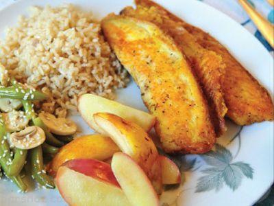 آموزش درست کردن خوراک ماهی و گلابی