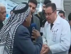 فوت یک مرد معترض به کمبود دارو در مقابل دوربین تلویزیونی + فیلم