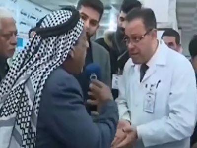 فوت یک مرد معترض به کمبود دارو حین مصاحبه تلویزیونی + فیلم