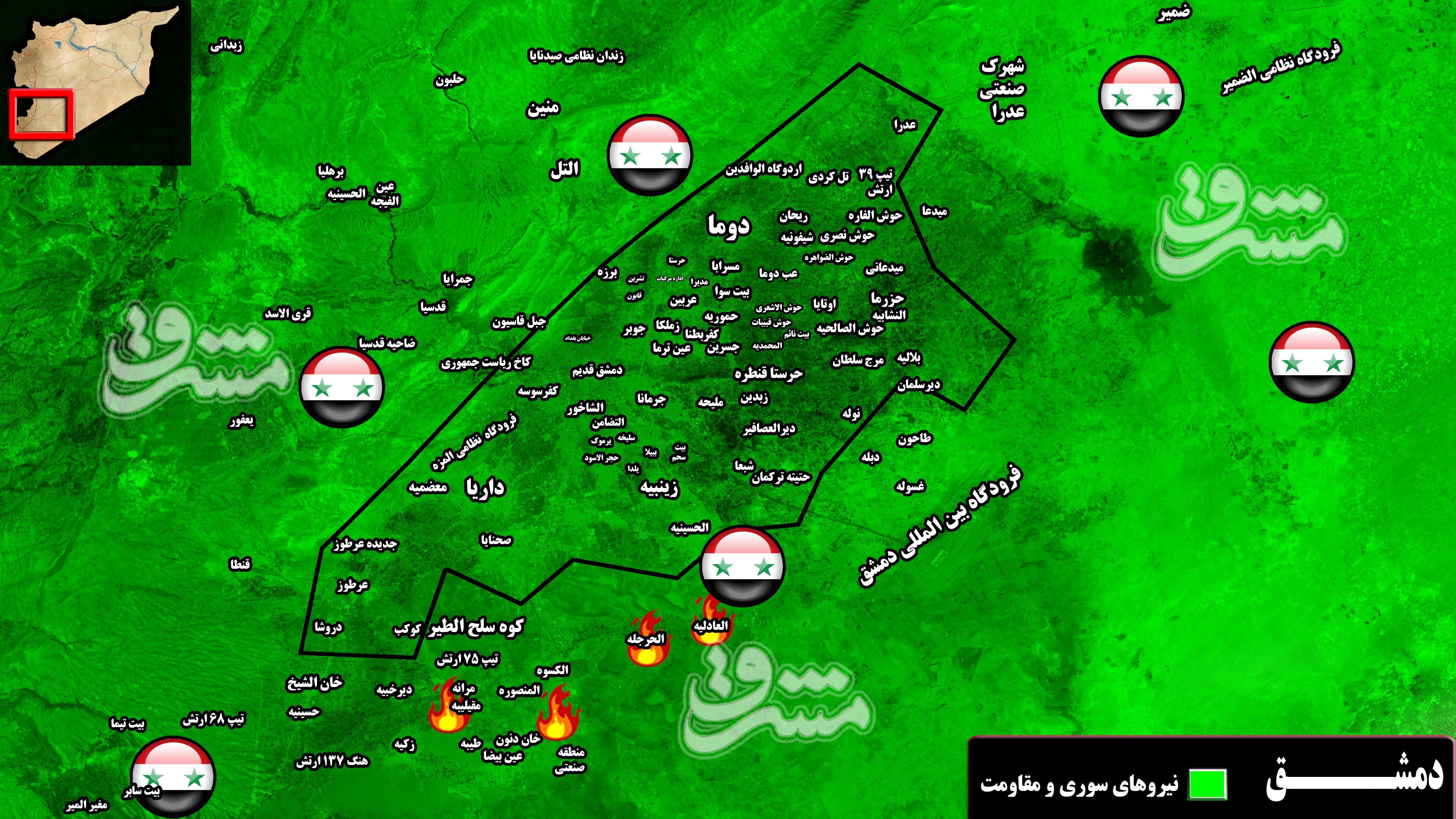 هدف اصلی از حملات موشکی یکشنبه شب به شهر دمشق چه بود؟ / تیر صهیونیستها برای ترور فرمانده سرشناس جنبش مقاومت جهاد اسلامی به سنگ خورد + نقشه میدانی