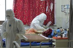 بخش مراقبتهای ویژه کرونا در بیمارستان مسیح دانشوری