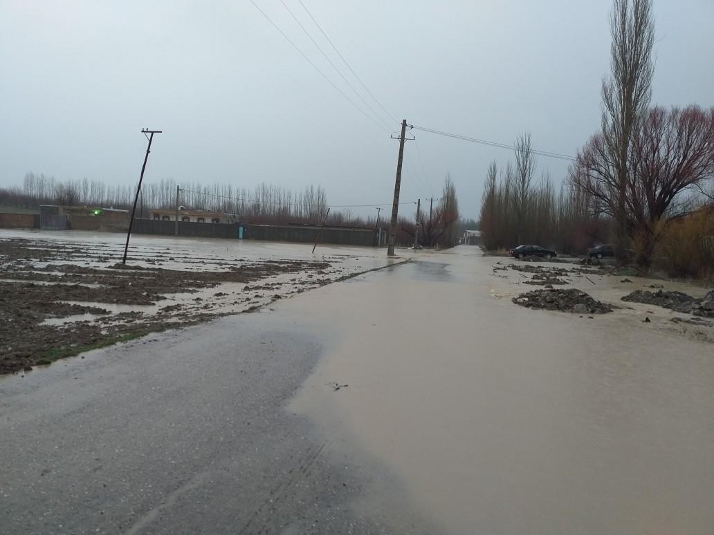 بر اثر بارش باران مزارع پرورش ماهی و زمینهای کشاورزی نهاوند خسارت دید