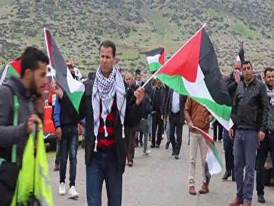 اعتراض فلسطینیها به محاصره منطقه الاغوار توسط رژیم صهیونیستی + فیلم