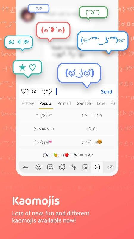 دانلود Facemoji Emoji Keyboard Pro 2.6.2 - برنامه صفحه کلید